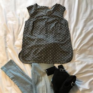 Grey patterned blouse
